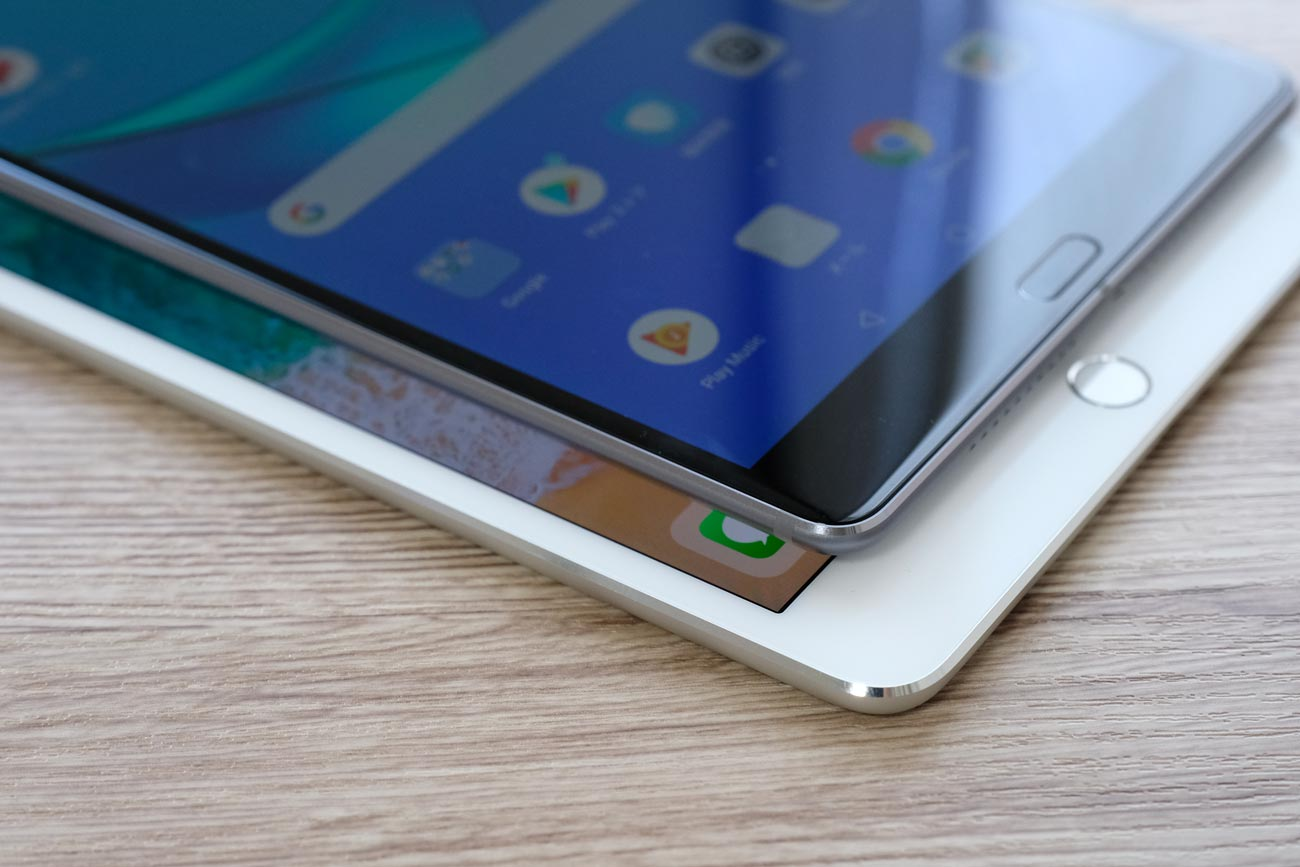 MediaPad M5とiPad mini 4 指紋認証の違い