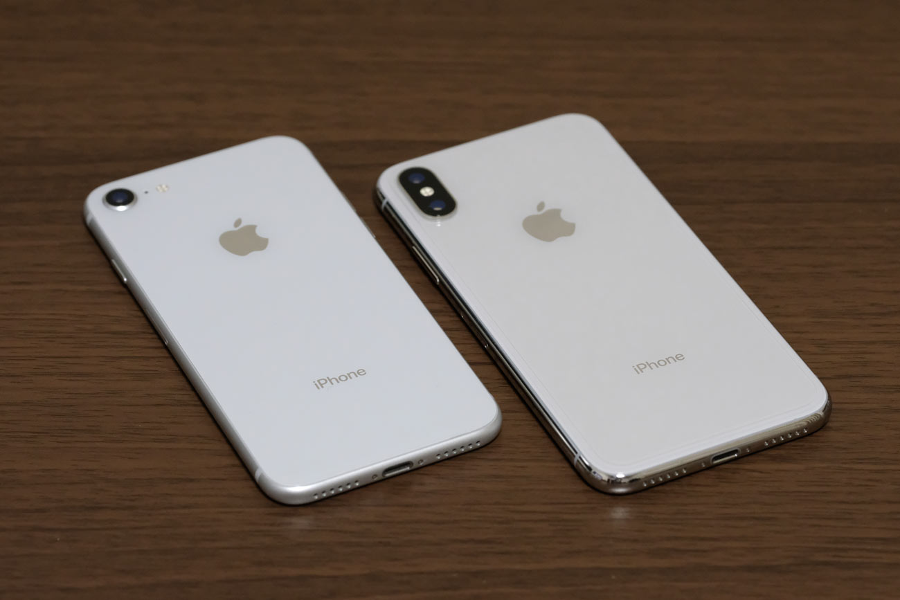 iPhone 8とiPhone XS