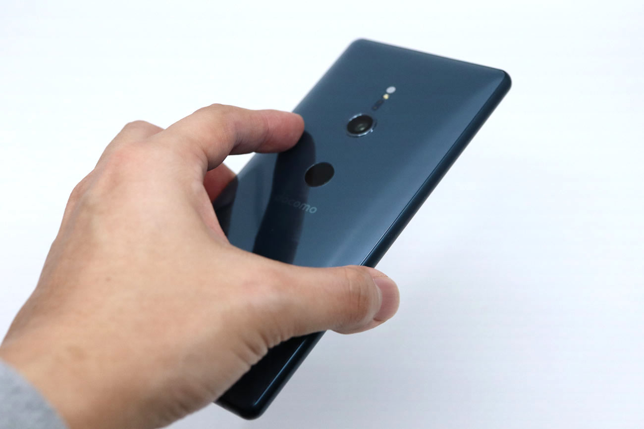 Xperia XZ2 指紋センサーの使いやすさ