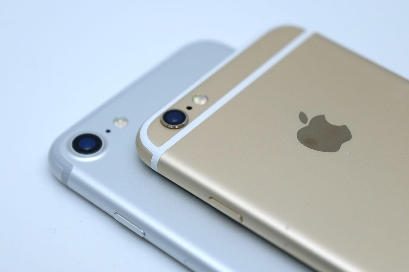 iPhone 7と6s 上部のアンテナラインの違い