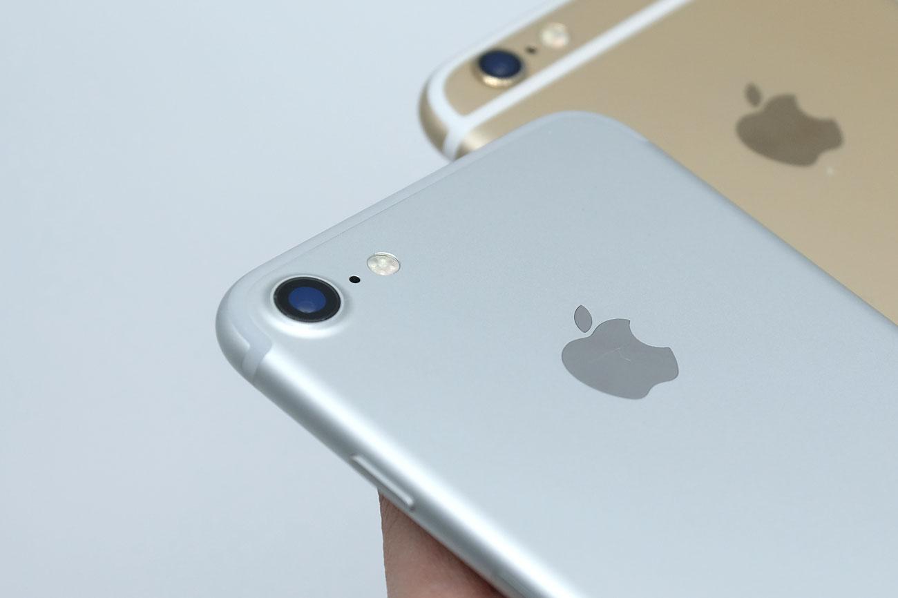 iPhone 7と6s メインカメラ