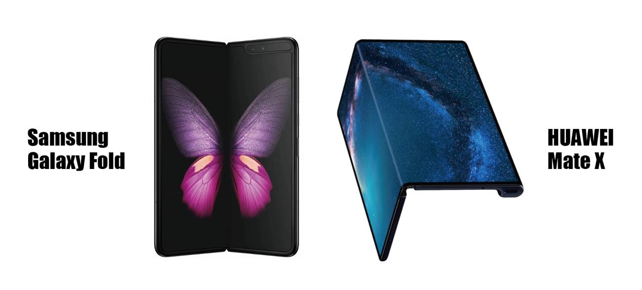 Galaxy FoldとHUAWEI Mate X