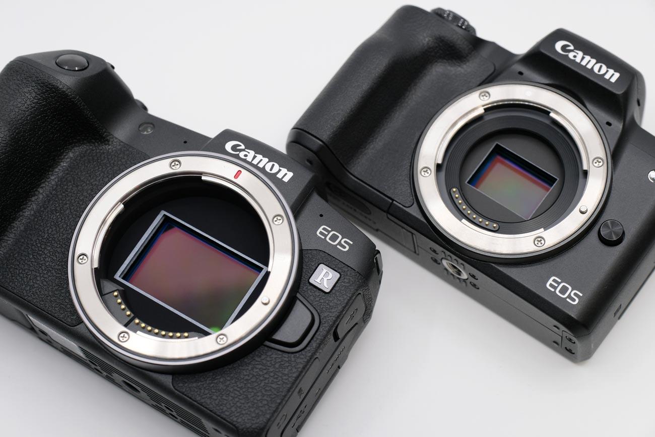 EOS RPとEOS Kiss M イメージセンサーの大きさ比較