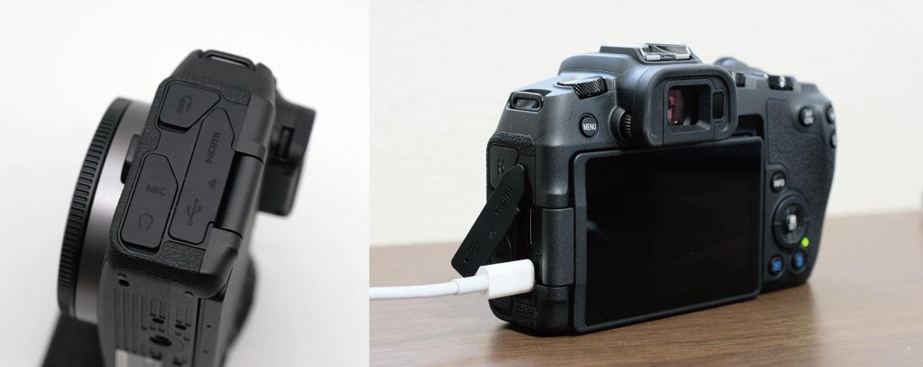 EOS RP USB-Cケーブルで充電する