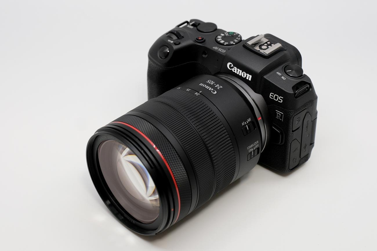 EOS RPにRF24-105mmF4を装着