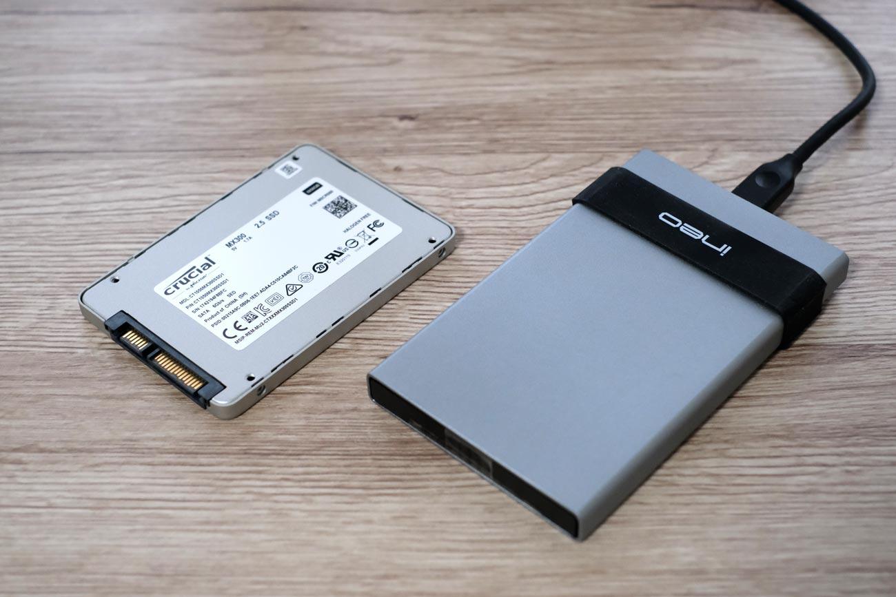 内蔵SSDと外付けSSD