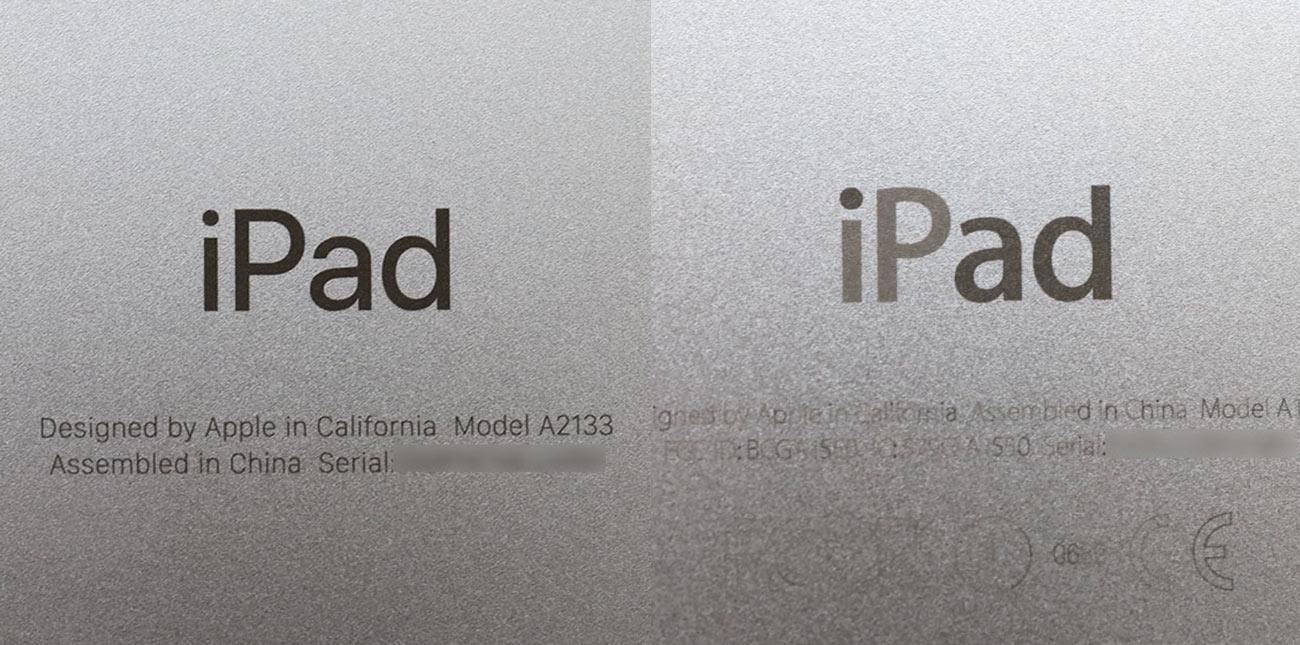 iPad mini 5とmini 4のロゴの違い