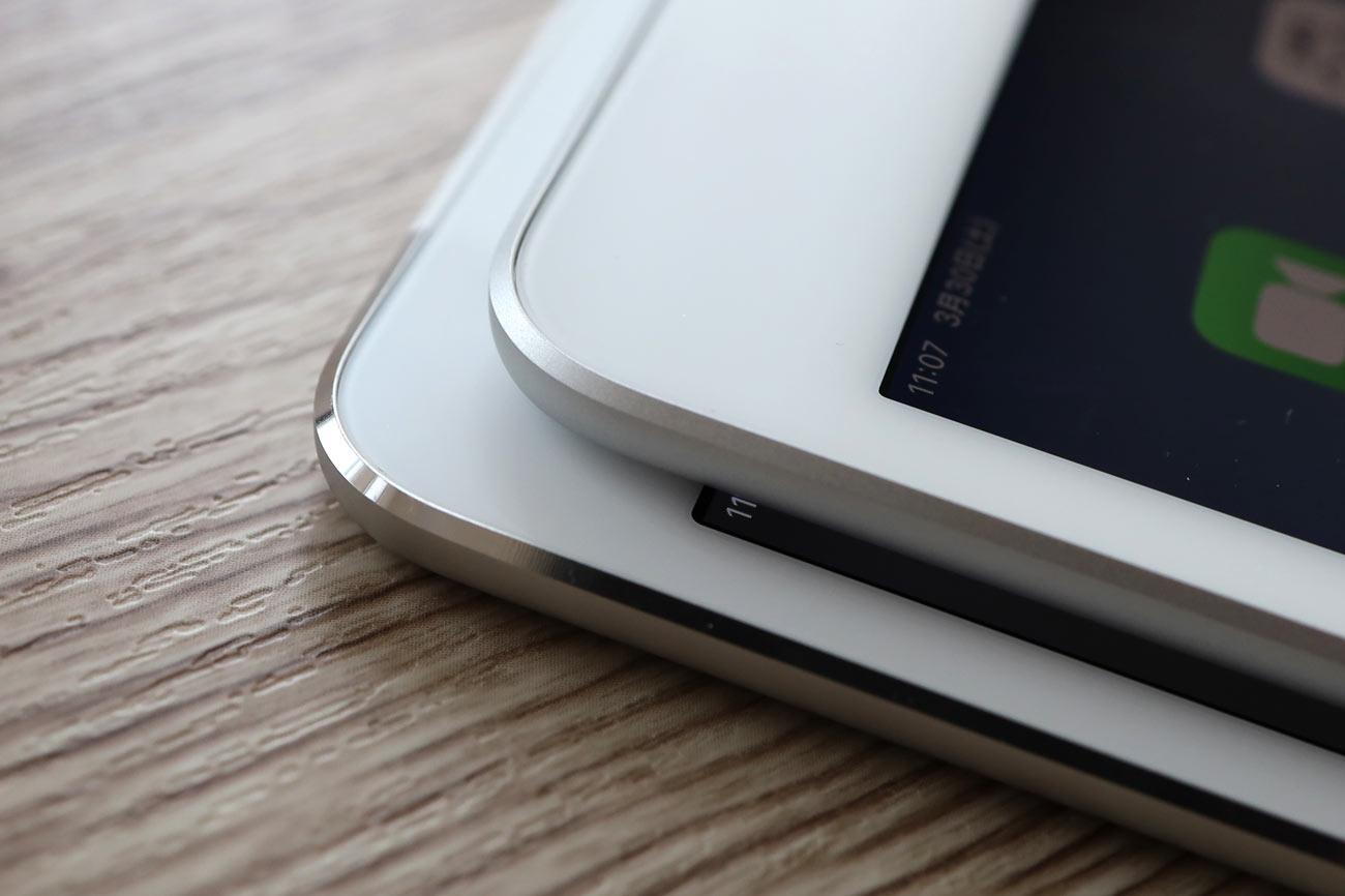 iPad miniのダイヤモンドカットの加工違い