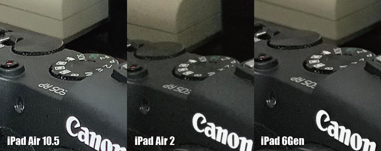 iPad Air 3、iPad Air 2、iPad カメラの画質を比較(拡大2)