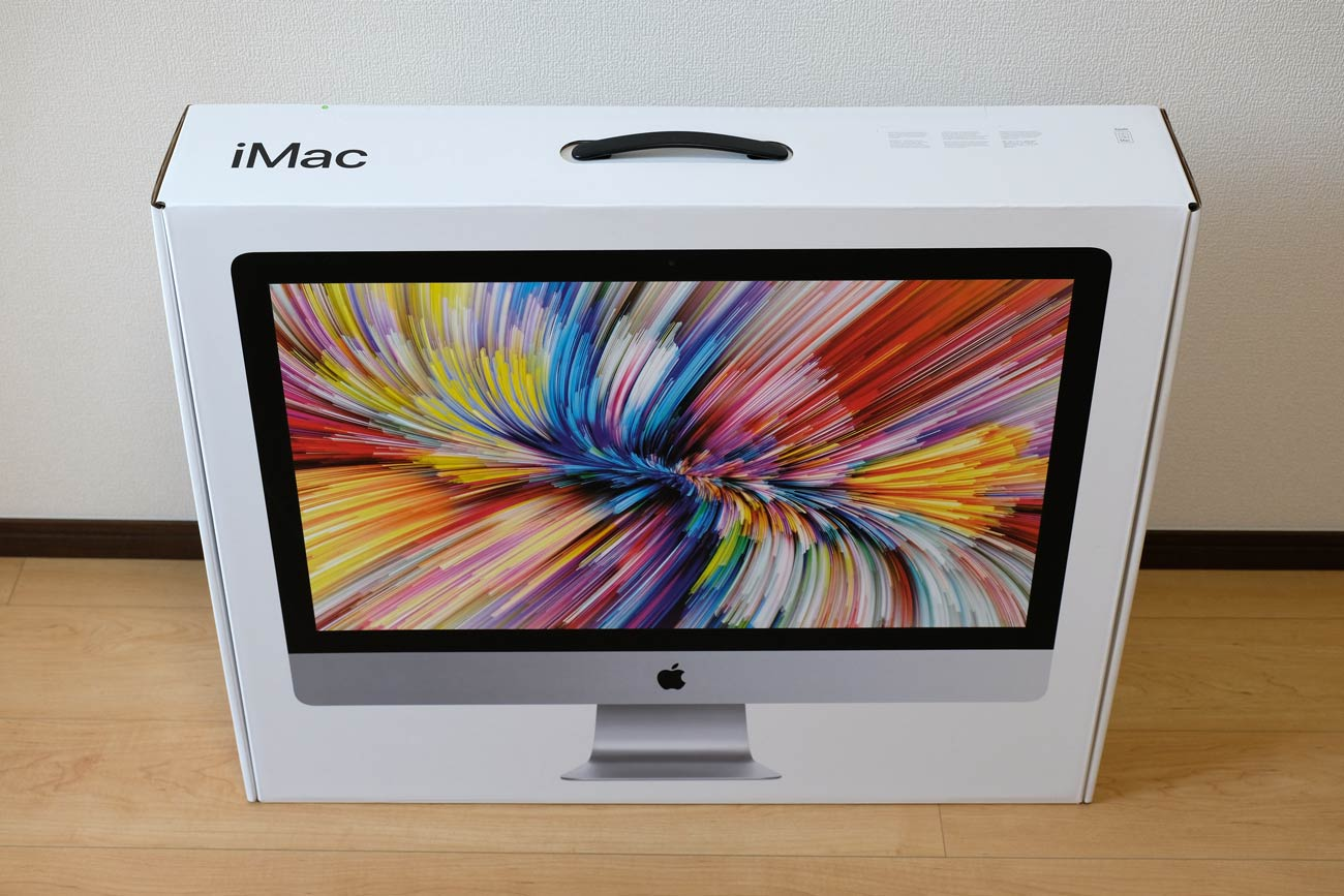 iMac 27インチ(2019)パッケージデザイン