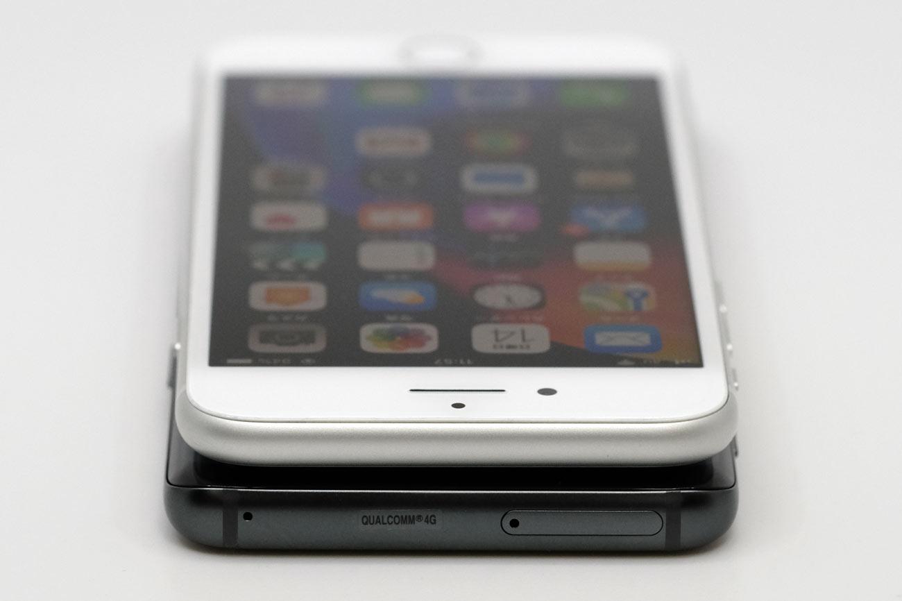 Galaxy S9とiPhone 8 上部デザインの違い