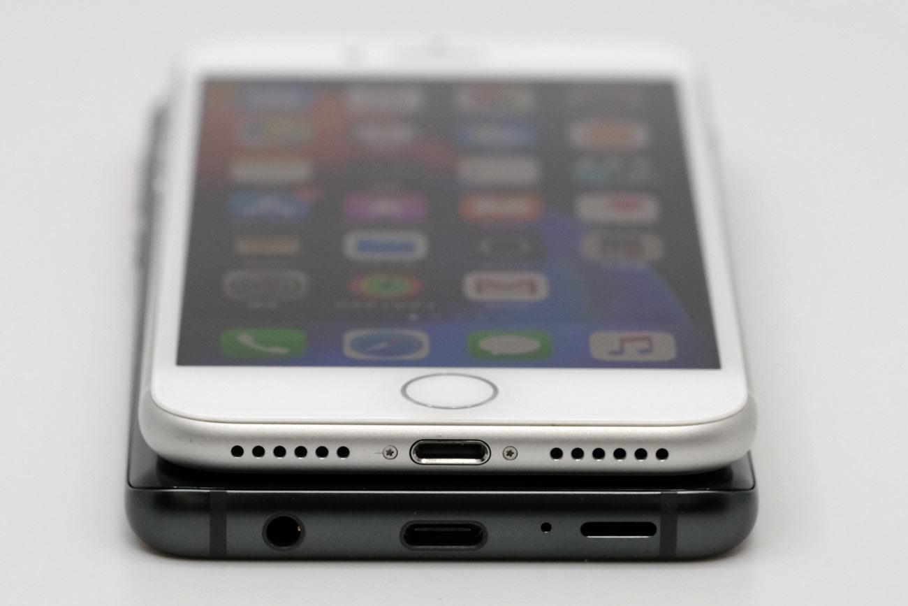 Galaxy S9とiPhone 8 ポートの違い