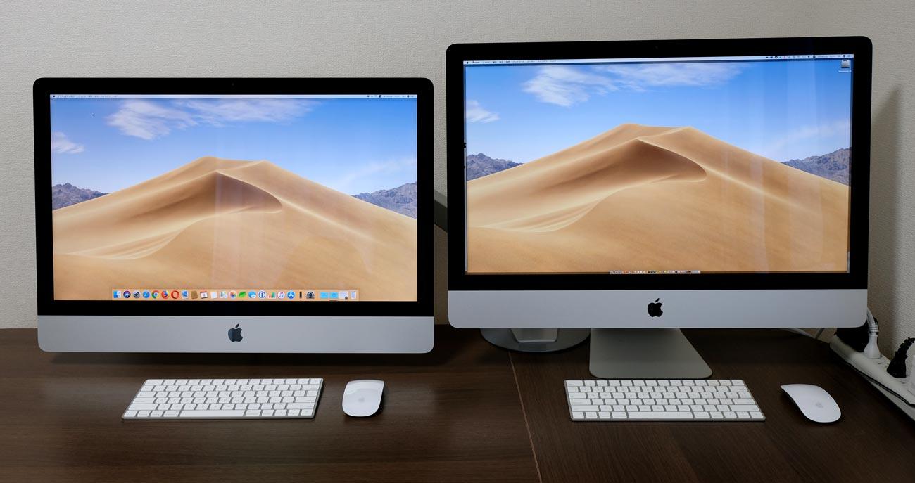 iMac 27インチのVESAモデルと通常モデル