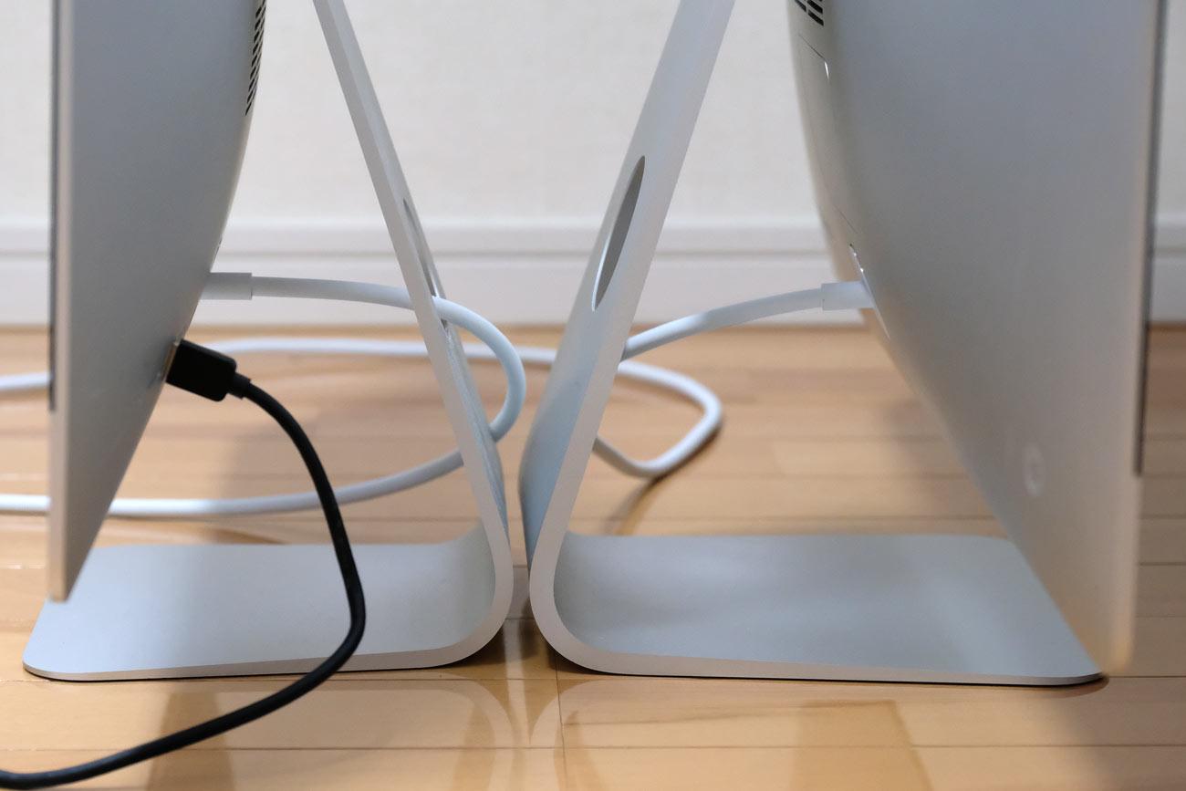 iMac 21.5インチと27インチ スタンドの大きさの違い