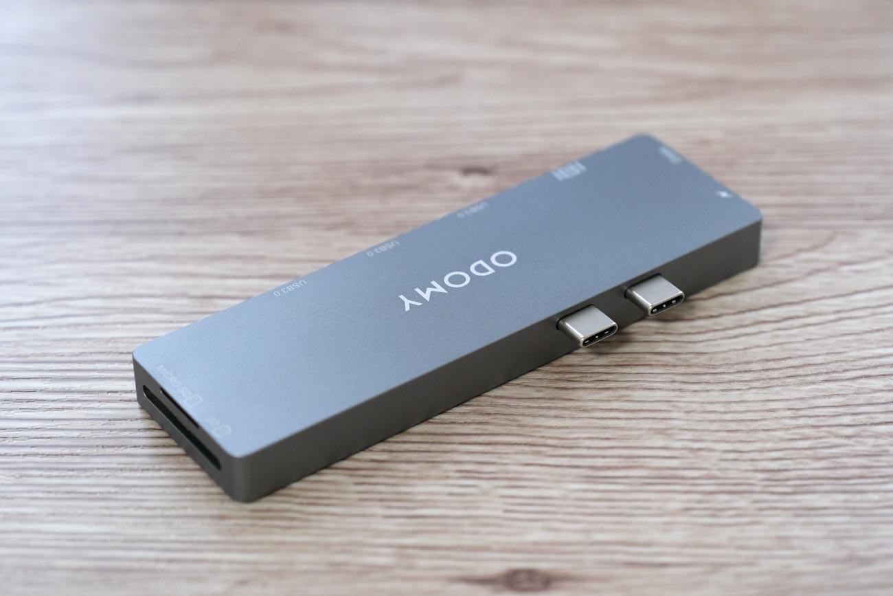 ODOMY USB Type-C ハブ 8in1 2つのUSB-Cで接続