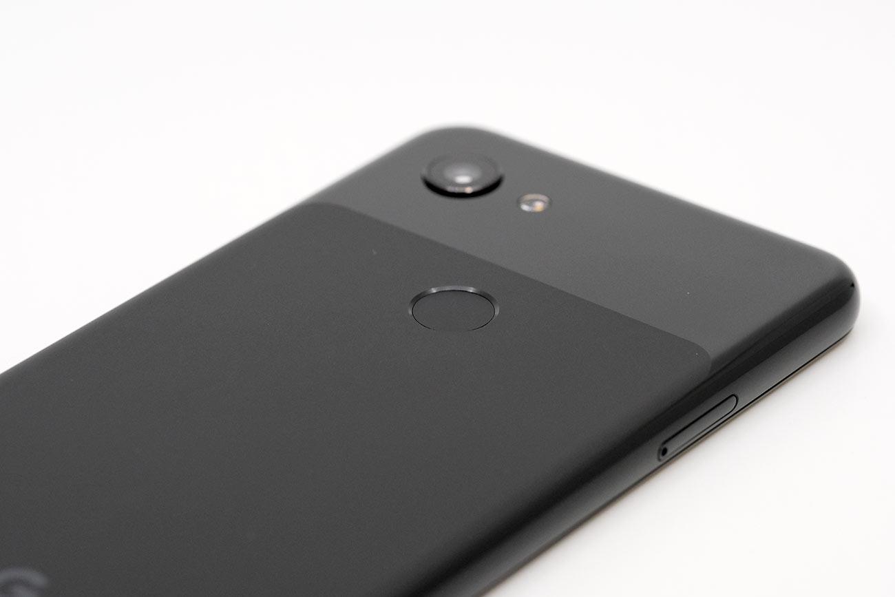 Pixel 3aの指紋認証センサー