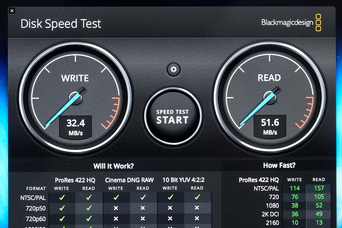 USBメモリの転送速度