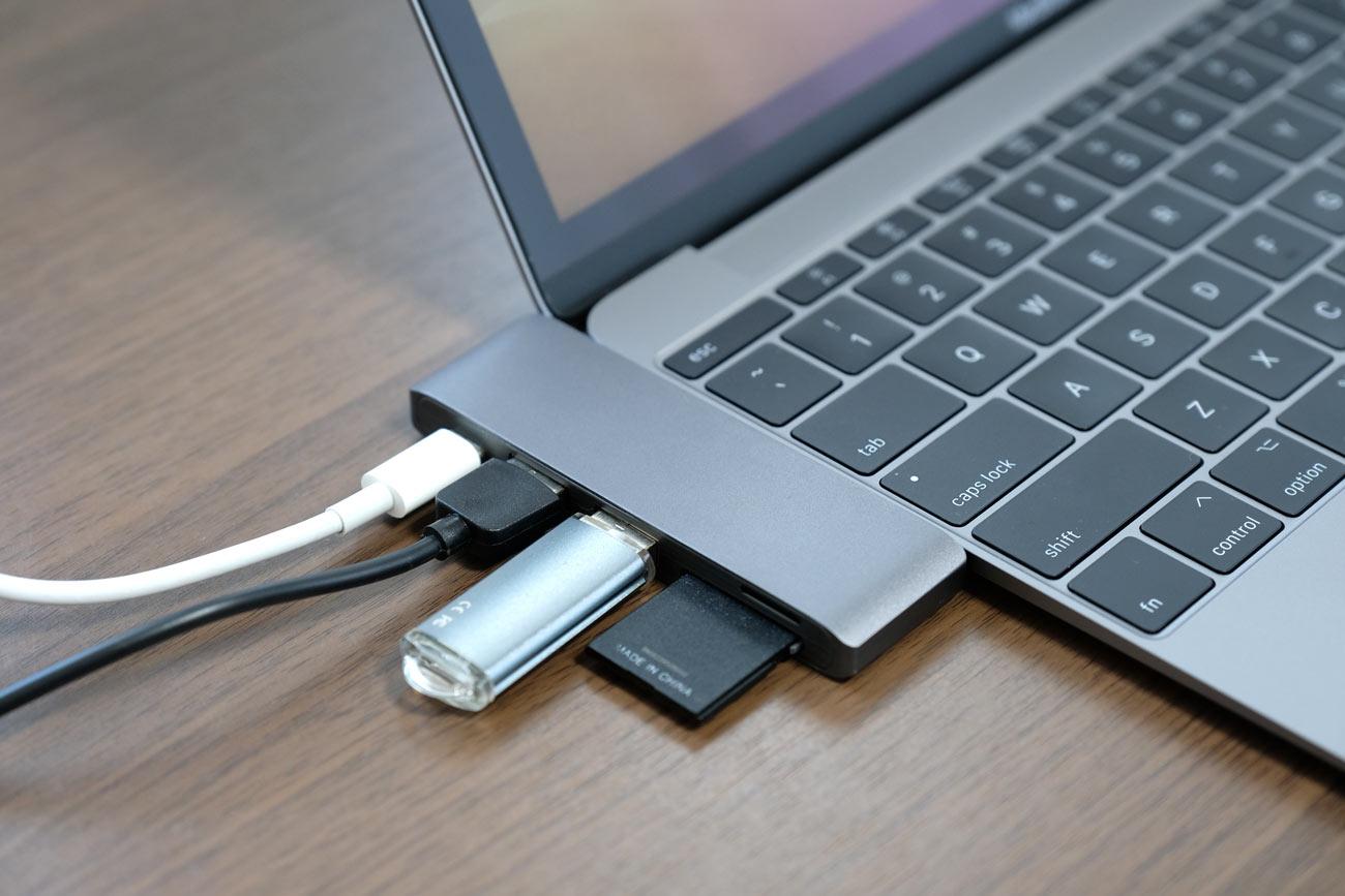 Batianda USB-C マルチハブ 5in1 接続例