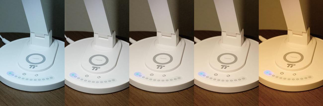 TaoTronics LED 色温度を5段階調整