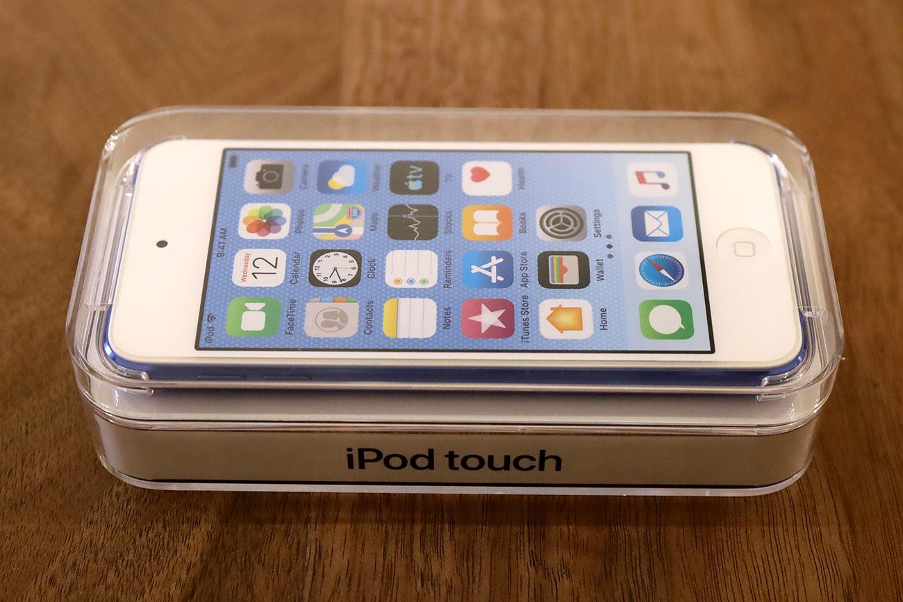 iPod touch(第7世代)のパッケージデザイン