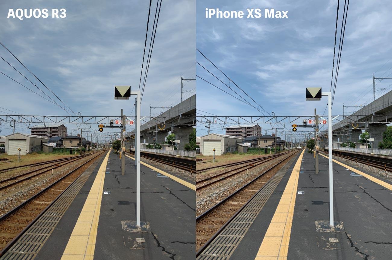 リアカメラの画質比較2