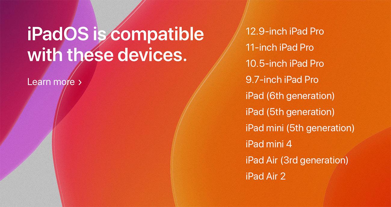 iPadOS サポート機種