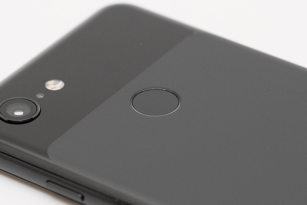 Google Pixel 3 指紋センサー
