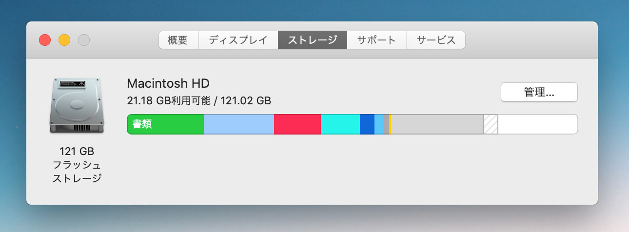128GBモデルを半年間使った残量