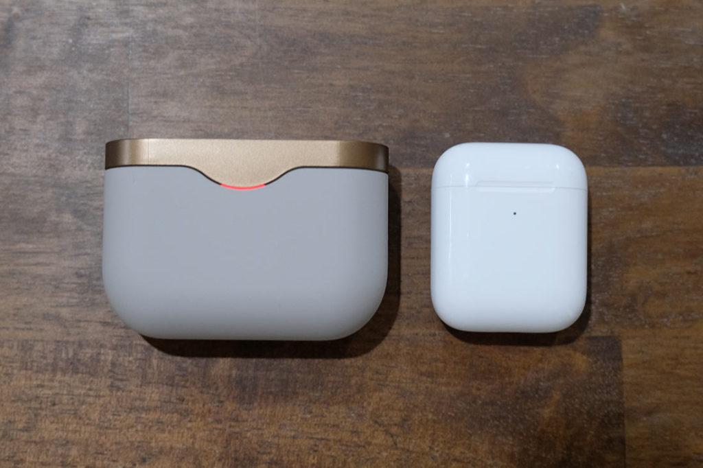 充電ケースのサイズの違い
