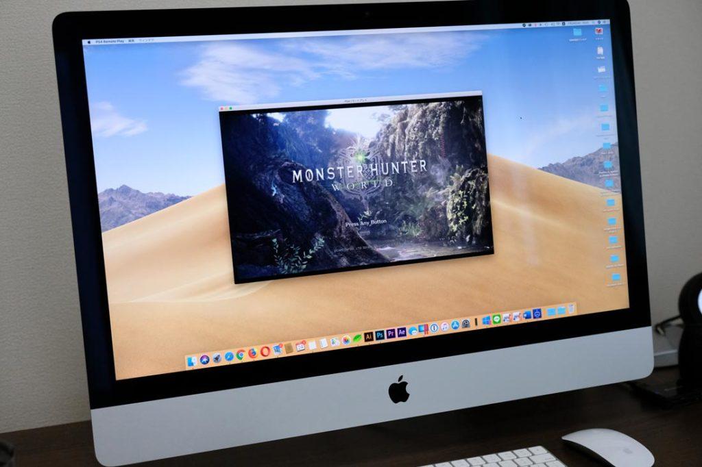 iMacでPS4をリモートプレイ
