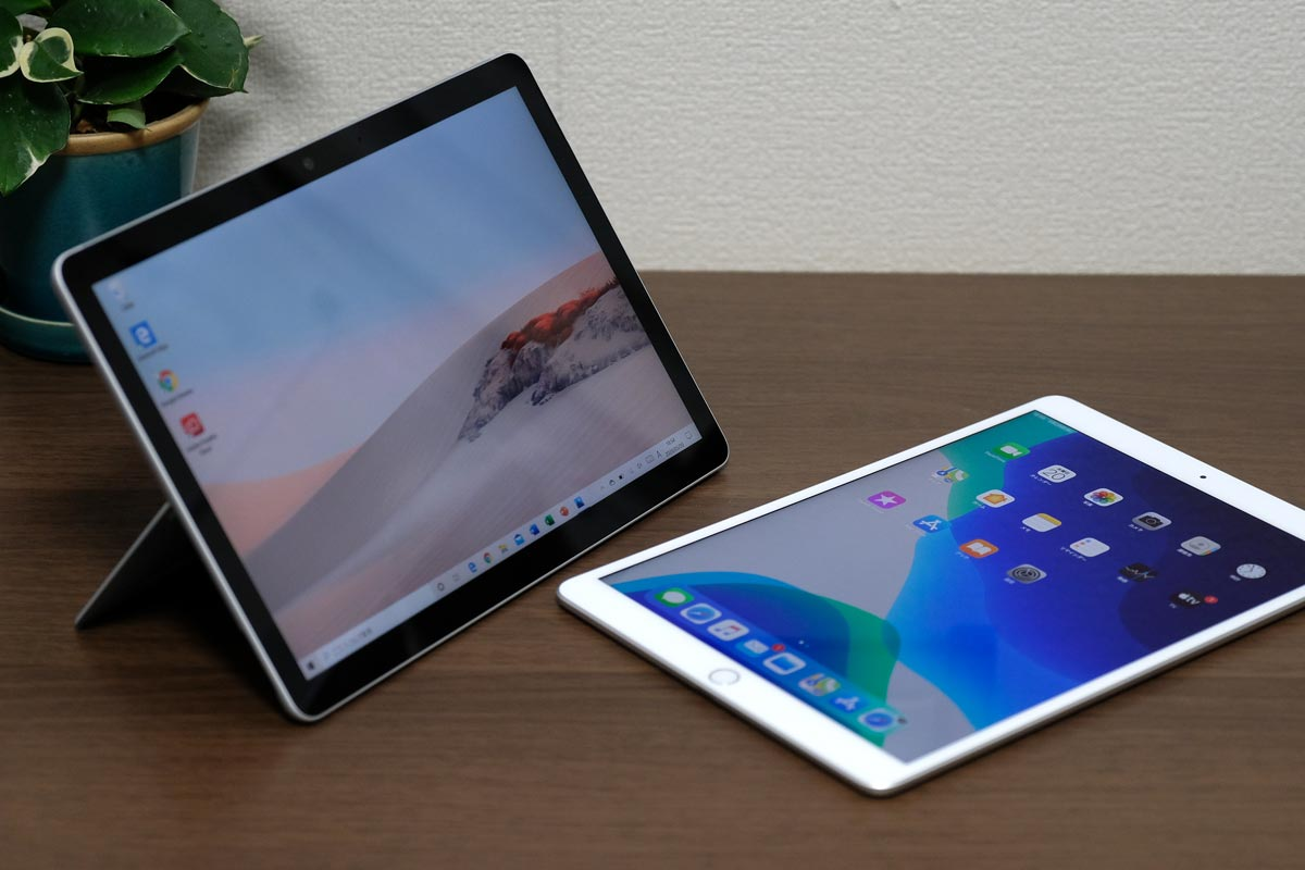 Surface Go 2とiPad Air 3