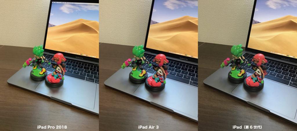 iPadのリアカメラの画質を比較