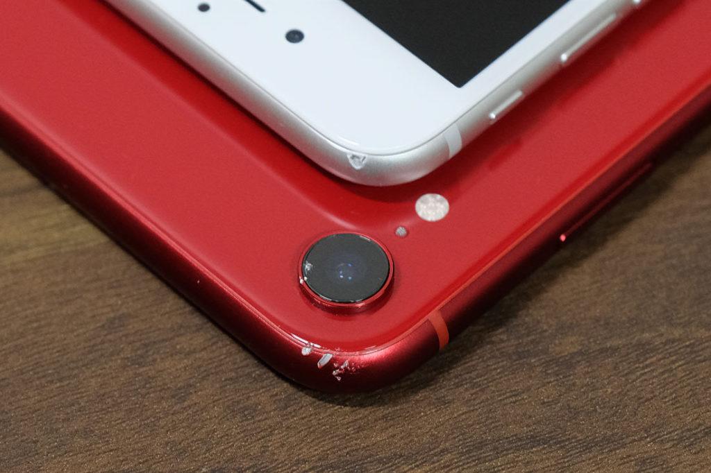 iPhoneのへこみや傷