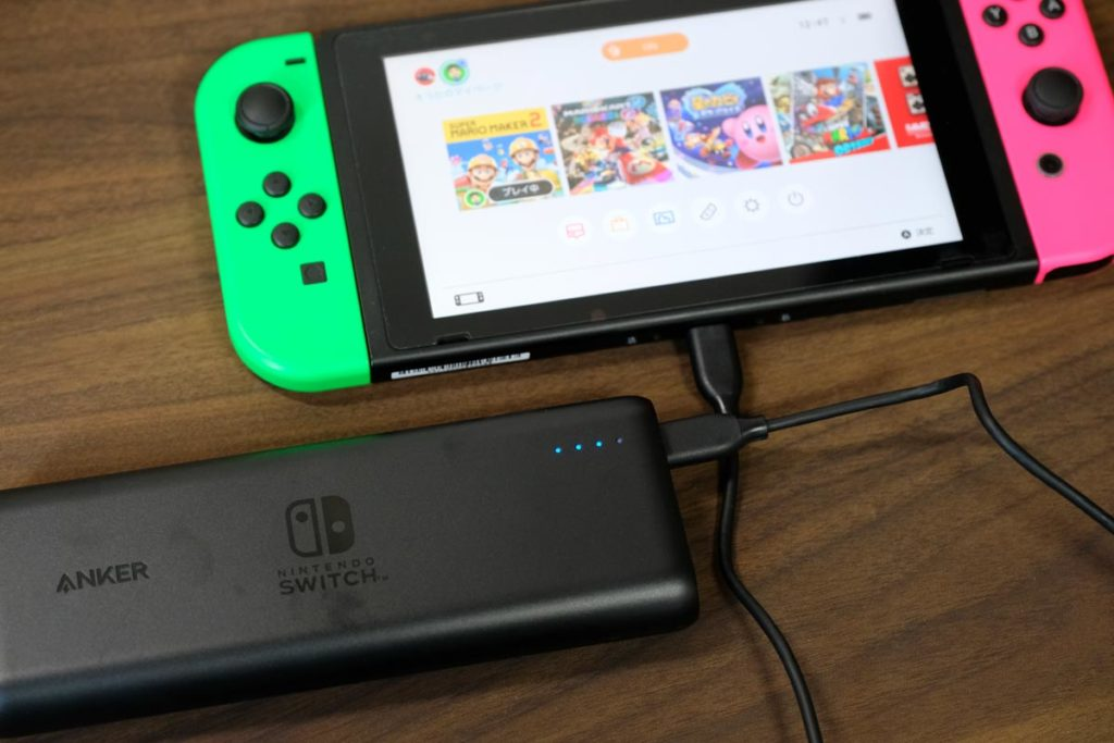 スイッチとPowerCore 20100 Nintendo Switch Edition