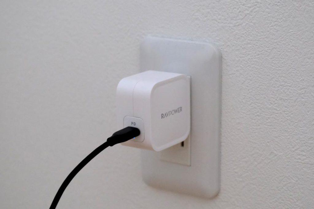 コンセントを使ってRAVPower RP-PC112を接続