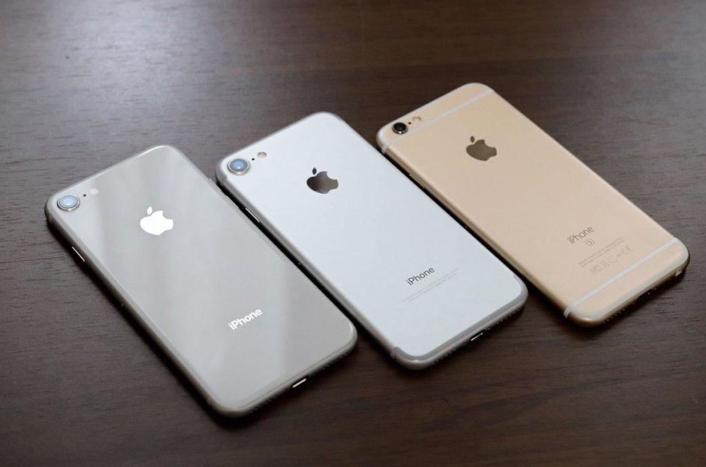 iPhone 8 7 6 筐体のデザインの違いを比較