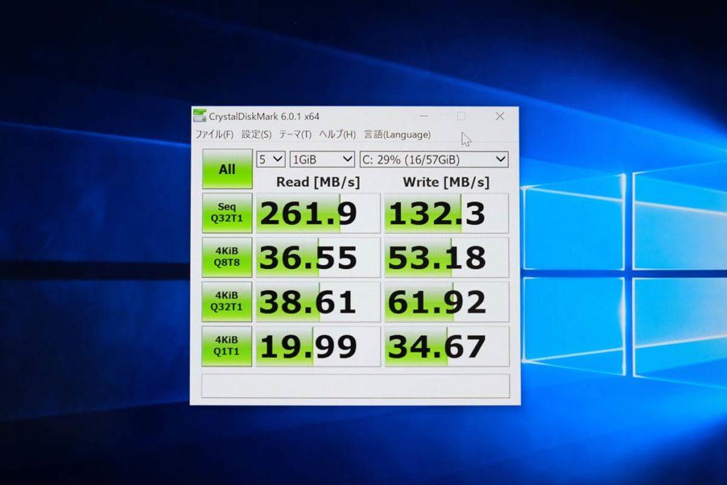 Surface Go ストレージ転送速度