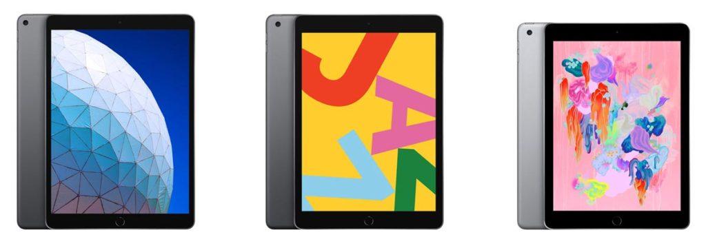 iPad Air、iPad 10.2、iPad 9.7