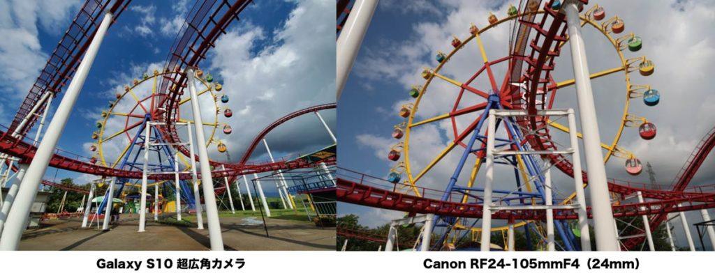 超広角カメラと24mmのレンズの画角の違い