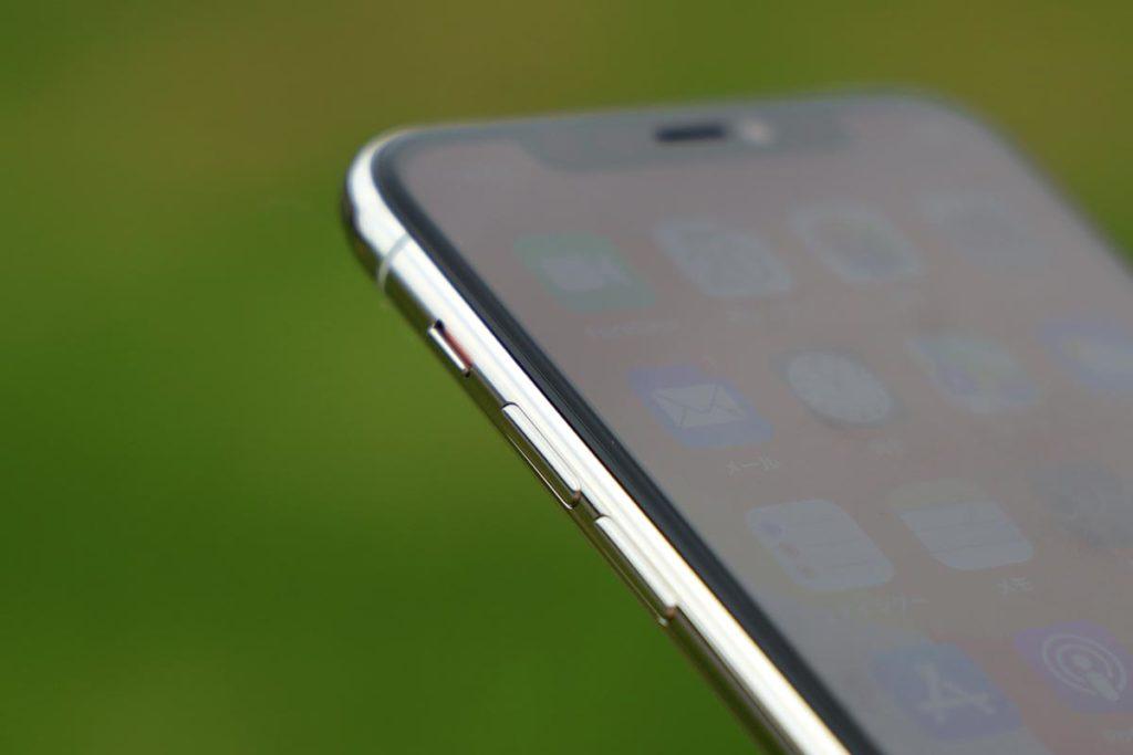 iPhone 11 Proの音量ボタン