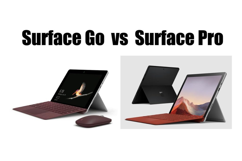 Surface GoとSurface Proの違いを比較