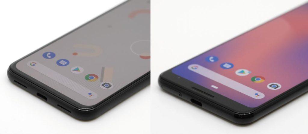 Pixel 4とPixel 3のディスプレイ比較