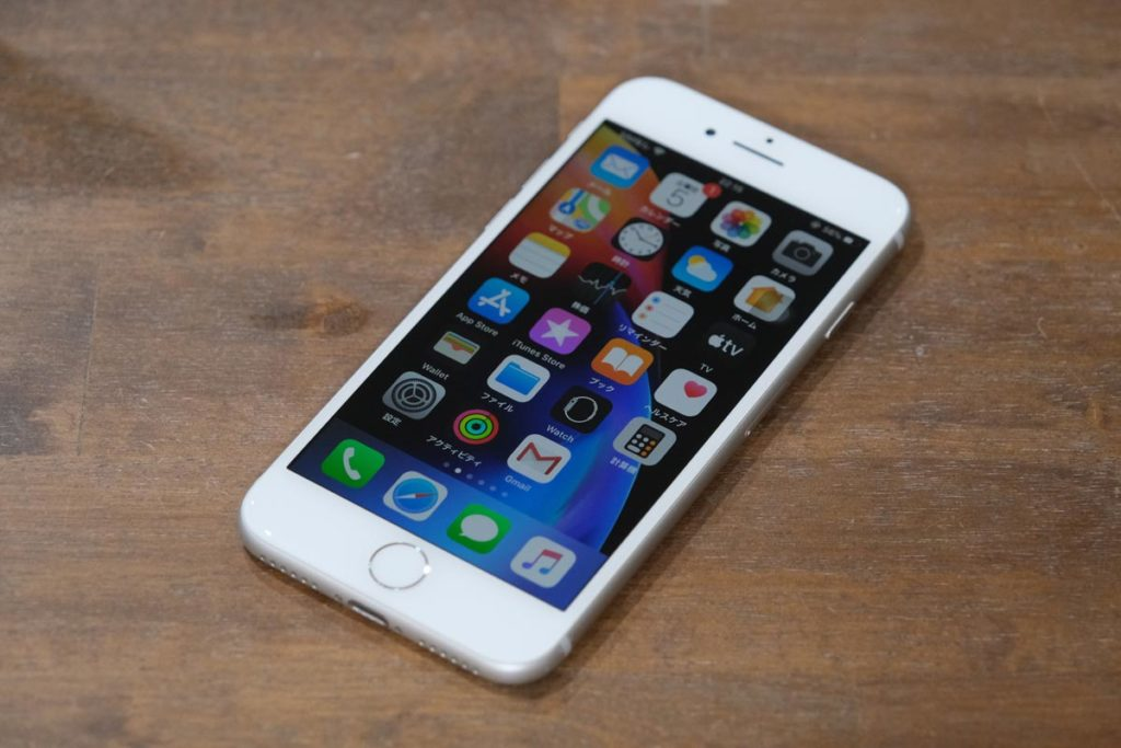 iPhone 8の正面デザイン