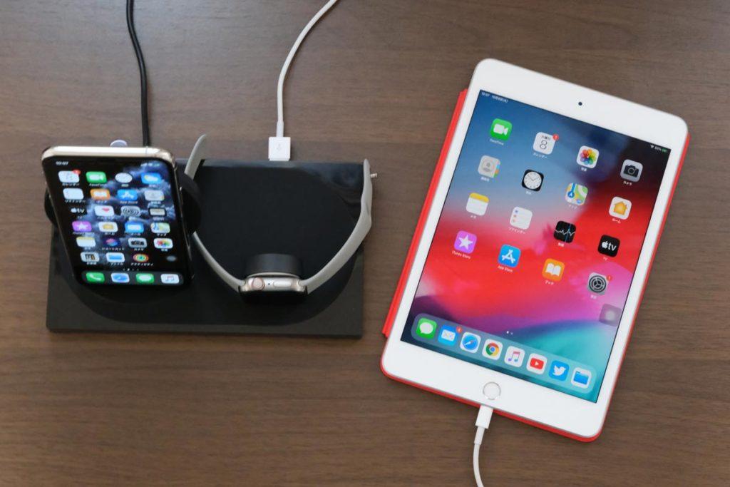 iPad miniを同時充電