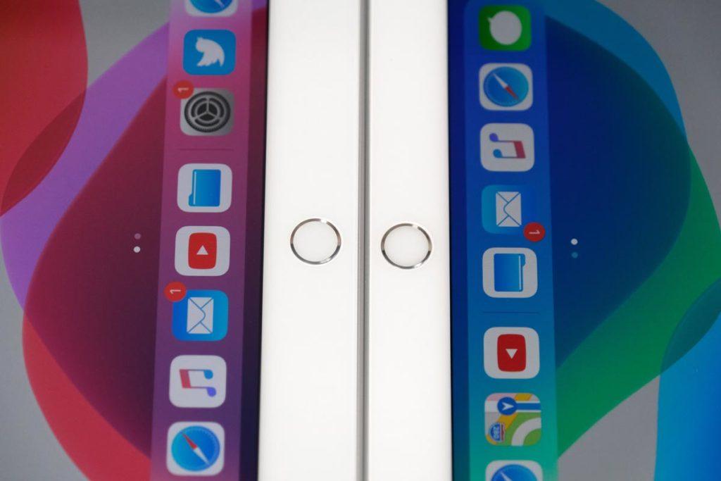 iPad 10.2インチとiPad Airのホームボタンの位置