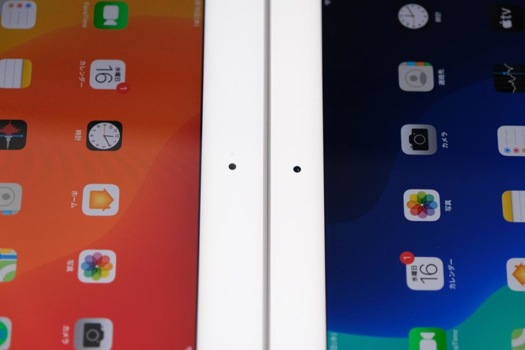 iPad 10.2インチとiPad Airのインカメラの位置