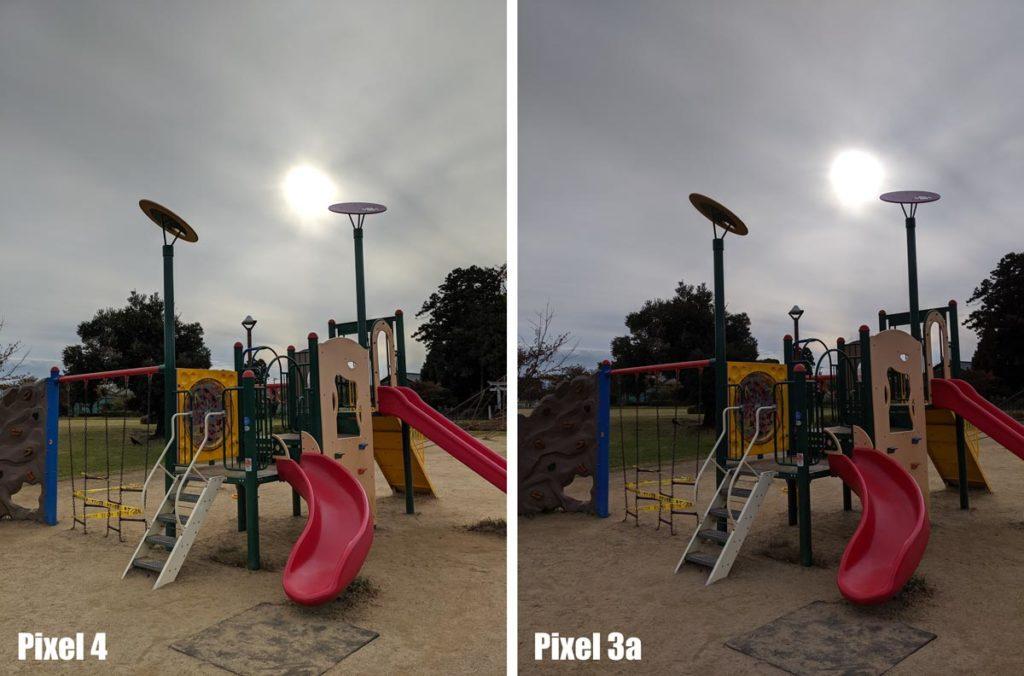 Pixel 4 vs Pixel 3a 逆光比較