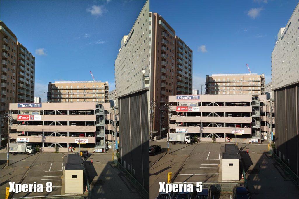 Xperia 8・Xperia 5/1 広角カメラ比較