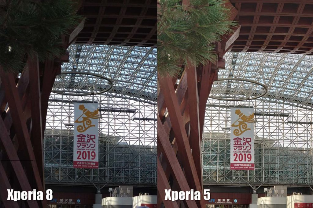 Xperia 8とXperia 5/1 望遠カメラ