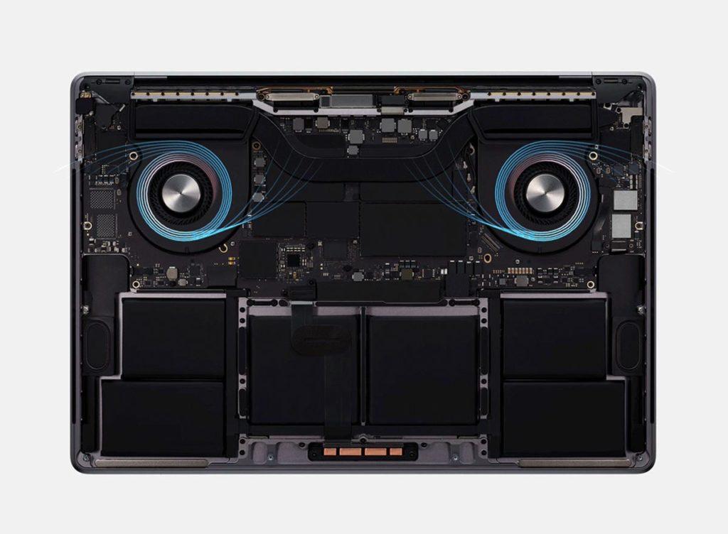 MacBook Pro 16インチの熱排熱構造